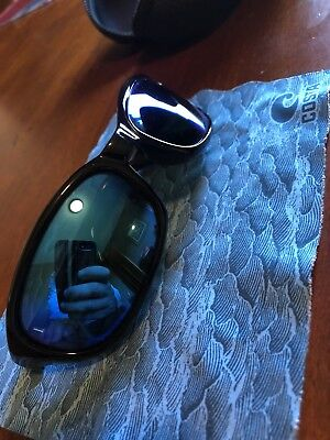 ecb44d11c6 COSTA DEL MAR sunglasses 580g Harpoon black w blue Mirrored Lens ...