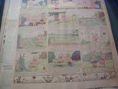 1931 comic newspaper page dolly dimples and bobby bounce color nice & clean