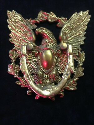 Vintage Brass Eagle DOOR KNOCKER America Proud Ornate Patriotic