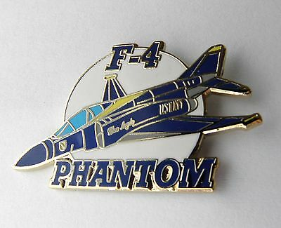 F-4 Phantom Lapel Pin Navy Blue Angels Usn Mcdonnell Douglas Badge 1.5 Inches