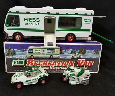 Hess Truck Recreation Van With Dune Buggy and Motorcycle