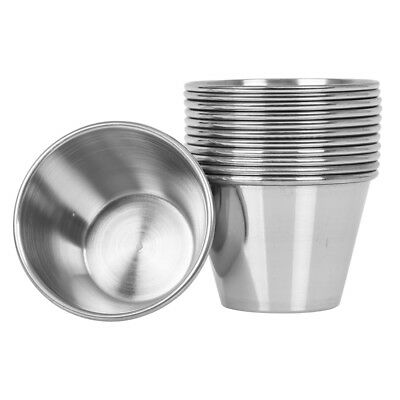 (144 Pack) Stainless Steel Sauce Cups 2.5 oz, Condiment Cups / Portion Cups