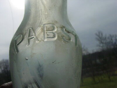 Old Pabst Beer Bottle , A Rare Aqua Pabst Bottle Came From An Old Railroad Depot