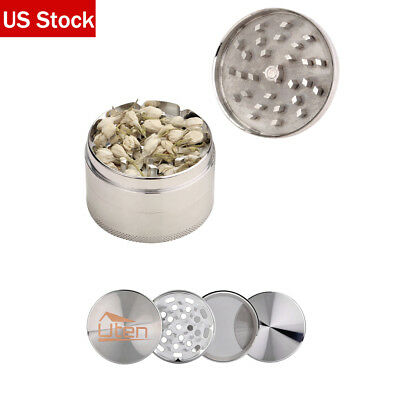 Tobacco Herb Grinder Spice Herbal Alloy Smoke Crusher Metal Chromium Silver