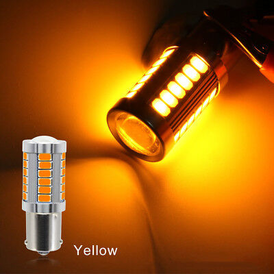 2pcs/lot Error Free BA15S LED Amber Yellow LED Bulb 5730 SMD 1156 LED Bulbs New