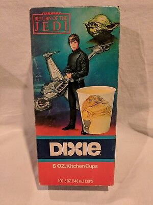 Vintage Star Wars Return of the Jedi Dixie Cups Sealed