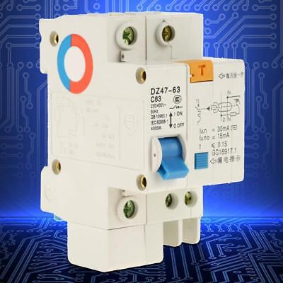 DZ47LE 1P+N 230V-400V Residual Current Circuit Breaker Over Load Protection