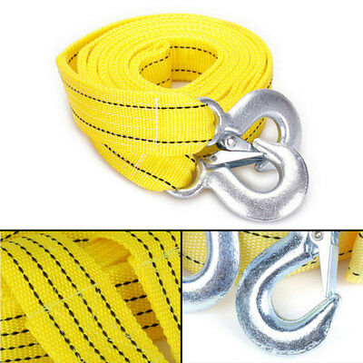 5 TONNE 4M Tow Towing Pull Rope Strap Rope Belt Heavy Duty Car Van Road Recovery
