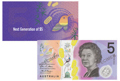 RBA Official Folder 2016 $5 Next Generation Unc -LAST PREFIX EJ