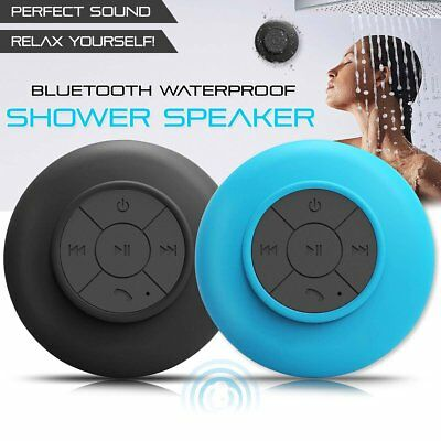 Waterproof Wireless Bluetooth Mini Shower Speaker w/ Suction Cup Hands free+ Mic