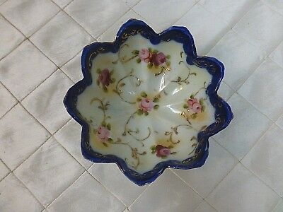 Nippon Hand painted Candy Dish Bowl Decorative Eggshell Porcelain RARE 1920s