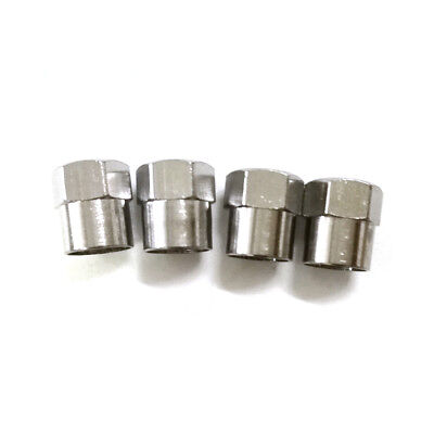 5 Pcs Car Chrome Tyre Tire Dust Caps Wheel Air Valve Stem Screw Cover Lid Copper
