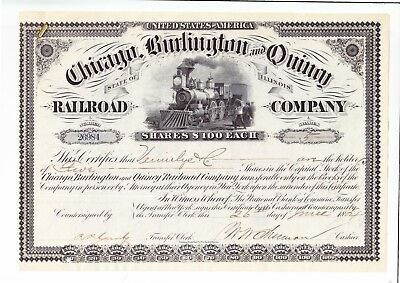 Chicago, Burlington and Quincy RR Company, 1884