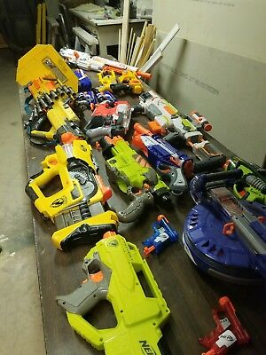 Huge Lot of 20+Nerf Guns, 15 Magazines ammo, Nightvision goggles, And sentry gun