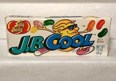 RARE! Vintage 1995 Jelly Belly JB COOL Candy Box Container Fleer PEZ gum bubble