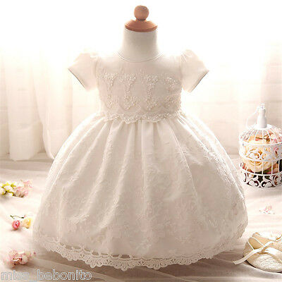 Leah Baby Girl Christening Baptism Gown Formal Lace Dress Wedding Shower Gift
