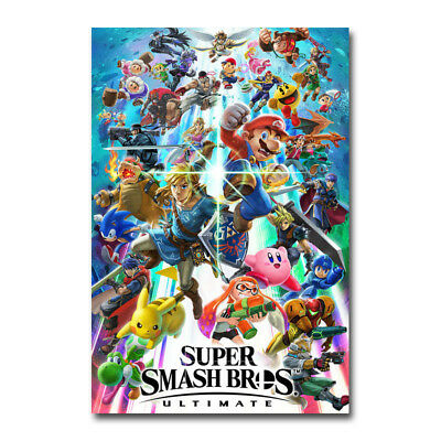 Super Smash Bros Ultimate Video Game Silk Canvas Poster 12x18 32x48 inch