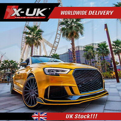 RS3 Style front bumper upgrade for Audi A3 / S3 8V Saloon 2016-2018
