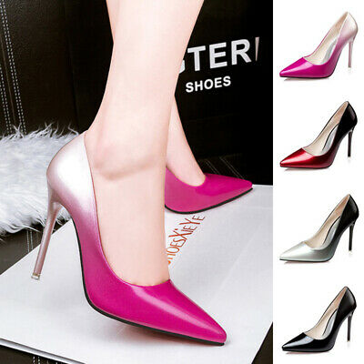 a22c00cbcbe0 Sexy Women Stiletto Metal High Heels Court Shoes Ladies Point Toe Gradient  Pumps
