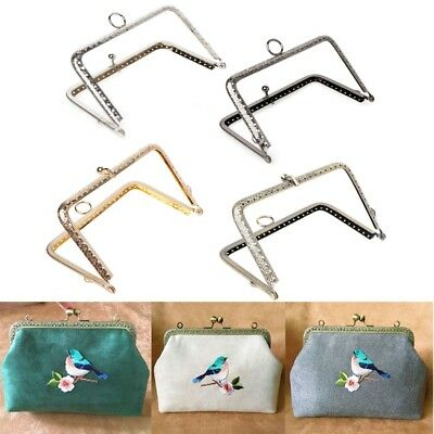 1Pc 13.8cm DIY Purse Handbag Handle Coins Bags Metal Kiss Clasp Lock Frame