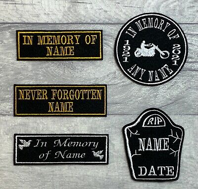 In Memory Of Remembrance Memorial Custom Personalised Patches Biker Scooter
