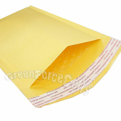 "100 pcs 6.3x11"" KRAFT BUBBLE MAILERS PADDED ENVELOPE SHIPPING BAGS 160x280mm"