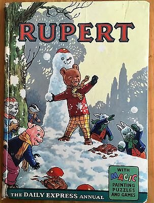 RUPERT ORIGINAL ANNUAL 1962 Inscribed Not Price Clipped G/VG