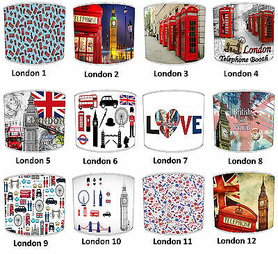 Lampshades Ideal To Match Your Londons Black Cab Cushions & Big Ben Cushions