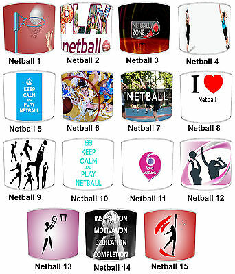 Lampshades Ideal To Match Netball Wall Decals & Stickers & Netball Duvets Covers