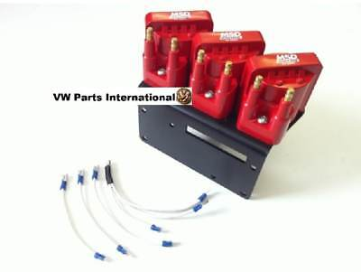 VW Golf MK2 MK3 VR6 MSD Coil Pack Kit with 7mm High Performance Ignition Leads