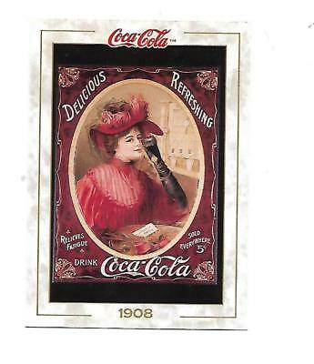 Coca Cola Collection (1993) 1908 # 12 Poster Good to the Last Drop Lady in Red
