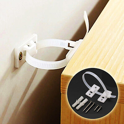 12 Sets Anti Tip Over Furniture Wall Safety Strap Baby Safety Screws Included