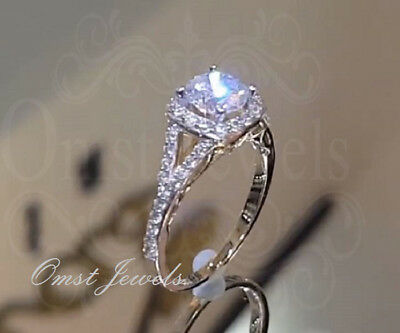 3Ct Brilliant Round Cut Gorgeous Diamond Engagement Ring 14K White Gold Finish