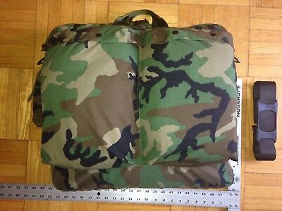 52e0f1060b US Army Military Helicopter Pilot Flyers Helmet Bag HGU-56 P Woodland Camo  EXC