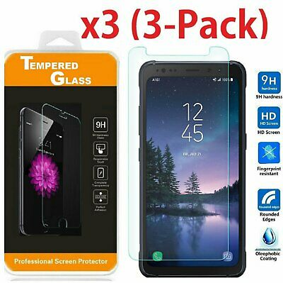 "(3 Pack) Premium Tempered Glass Screen Protector For ""Samsung Galaxy S8 Active"""
