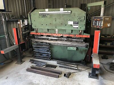 Metalworking, fabrication press brake folder