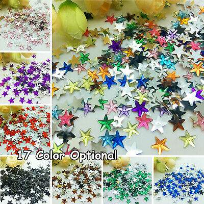 New 6/10mm star flat back bead resin inlaid crystal sparkle ornaments 16 color
