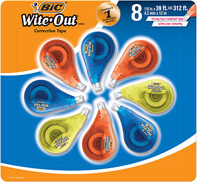 BIC Wite-Out Brand EZ Correct Correction Tape, 8-Count
