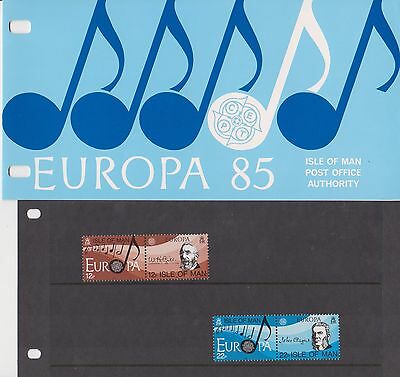 ISLE OF MAN Presentation Pack 1985 EUROPA MUSIC 10% off any 5+