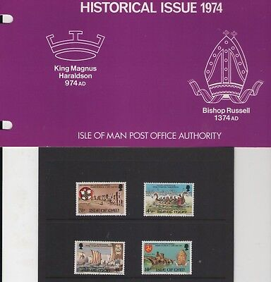 ISLE OF MAN Presentation Pack 1974 HISTORICAL ISSUE 10% off any 5+