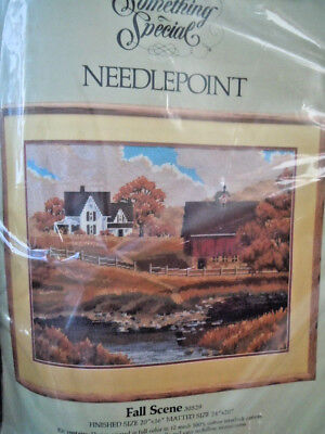 Candamar Something Special Needlepoint Kit - Fall Scene - John Sloane #30529