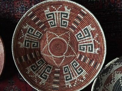 Mexican African woven plates baskets