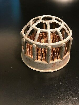 Vtg Metal Flower Frog Round Domed Cage Beehive Shape - A MUST SEE