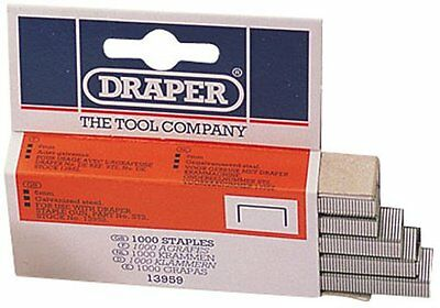 Draper 13959 | 6mm Steel Staples  | Box of 1,000 Cable or Wiring Staple Gun