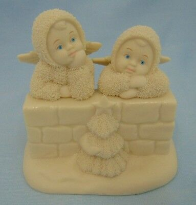 "Dept 56 Snowbabies ""Two Little Angels"" Angels & Christmas Tree #69140 2001"