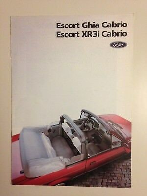Catalogue Brochure Ford Escort Ghia - Xr3I Cabrio