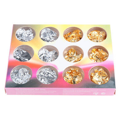 Nail Art Foil Sticker Mixed Colors Gold Sliver 3D Nails Decorations Cosmetic