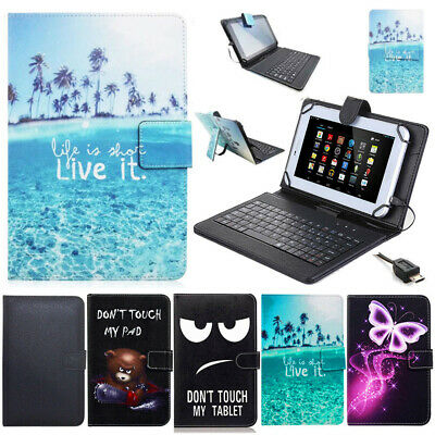 USB KEYBOARD STAND Leather Case Cover For Amazon Kindle Fire HD 10 10 1