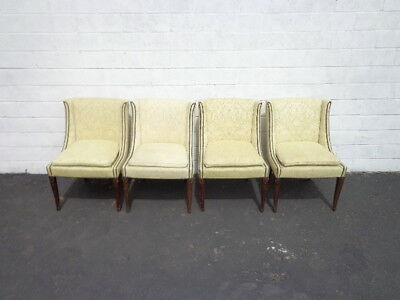 4 Chairs Set Dining Chair Seating Fabric Vintage Floral Regency Country French