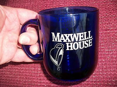 MAXWELL HOUSE  COFFEE MUG made in France.... true cobalt blue...New without tag